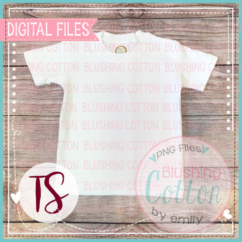 BB BLANKS WHITE BOYS SHORT SLEEVE TSHIRT PLAIN LAYOUT MOCK UP DESIGN BCTS