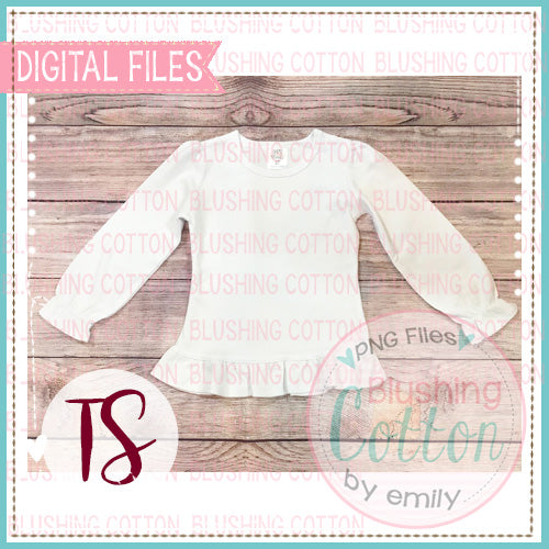 ARB RUFFLE LONG SLEEVE GIRLS TOP MOCK UP LAYOUT PHOTO BCTS