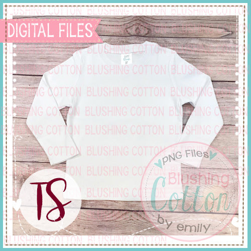ARB BOYS LONG SLEEVE WHITE SHIRT PLAIN MOCK UP FLAT LAY PHOTO BCTS