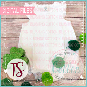 ARB RUFFLE CAP SLEEVE BUBBLE WITH ST PATRICKS DAY ACCENT FLAT LAYS  BCTS