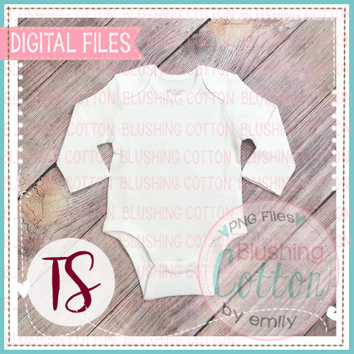 ARB WHITE BABY BODY SUIT PLAIN MOCK UP FLAT LAY PHOTO BCTS
