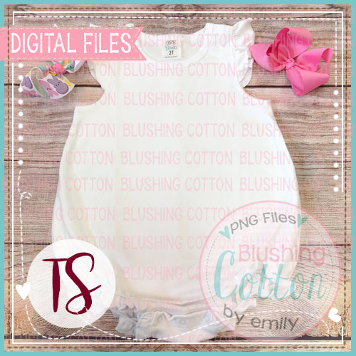 ARB CAPPED RUFFLE BUBBLE WITH PINK BOW AND PEEPS BOW FLAT LAY BCTS