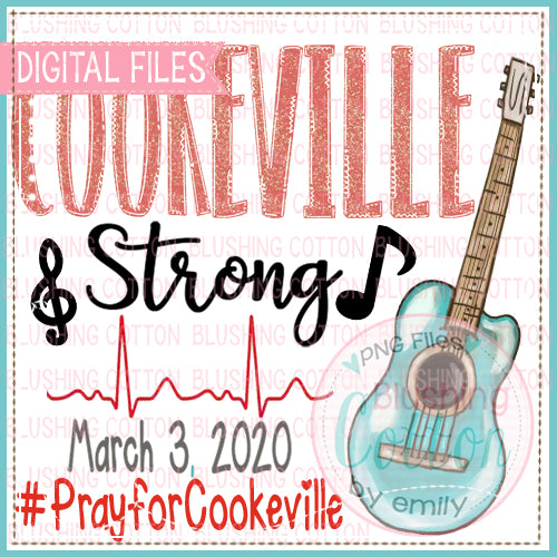 DESIGN!!!  COOKEVILLE STRONG WATERCOLOR PNG DESIGN BC
