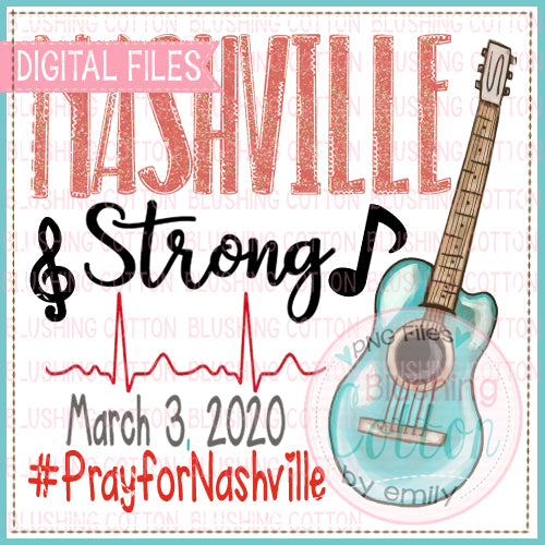 FREE DESIGN!!!  NASHVILLE STRONG WATERCOLOR PNG DESIGN BC