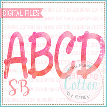 Load image into Gallery viewer, PINK WATERCOLOR ALPHA BUNDLE   BCSB