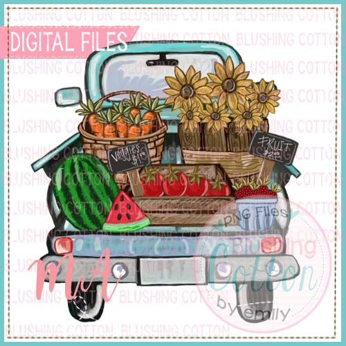 TRUCK BED WITH VEGGIES AND FRUIT DESIGN  BCMA