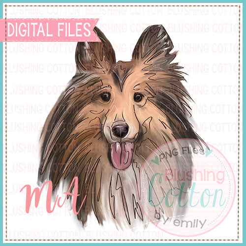 COLLIE DOG DESIGN    BCMA
