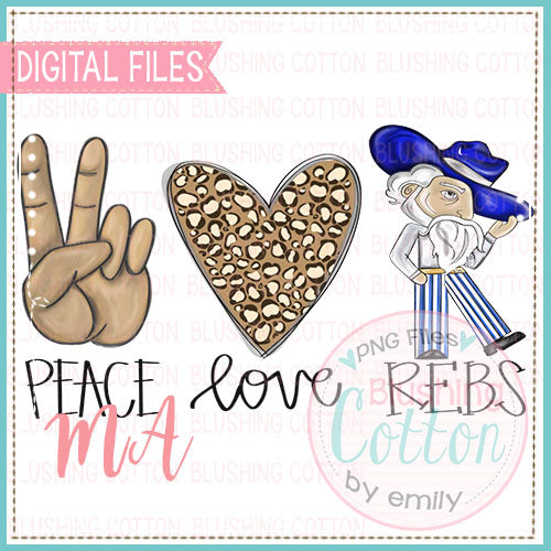PEACE LOVE REBELS DESIGN    BCMA