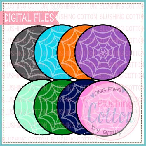 Spider Web Background Set Watercolor for crafts and printing BC