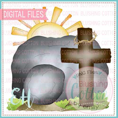 TOMB WITH CROSS AND RISING SUN DESIGN   BCEH