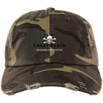 Live Well Cheat Death Distressed Camo Cap