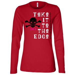 Take it to the Edge, 26.2 -  Ladies' Jersey LS Missy Fit