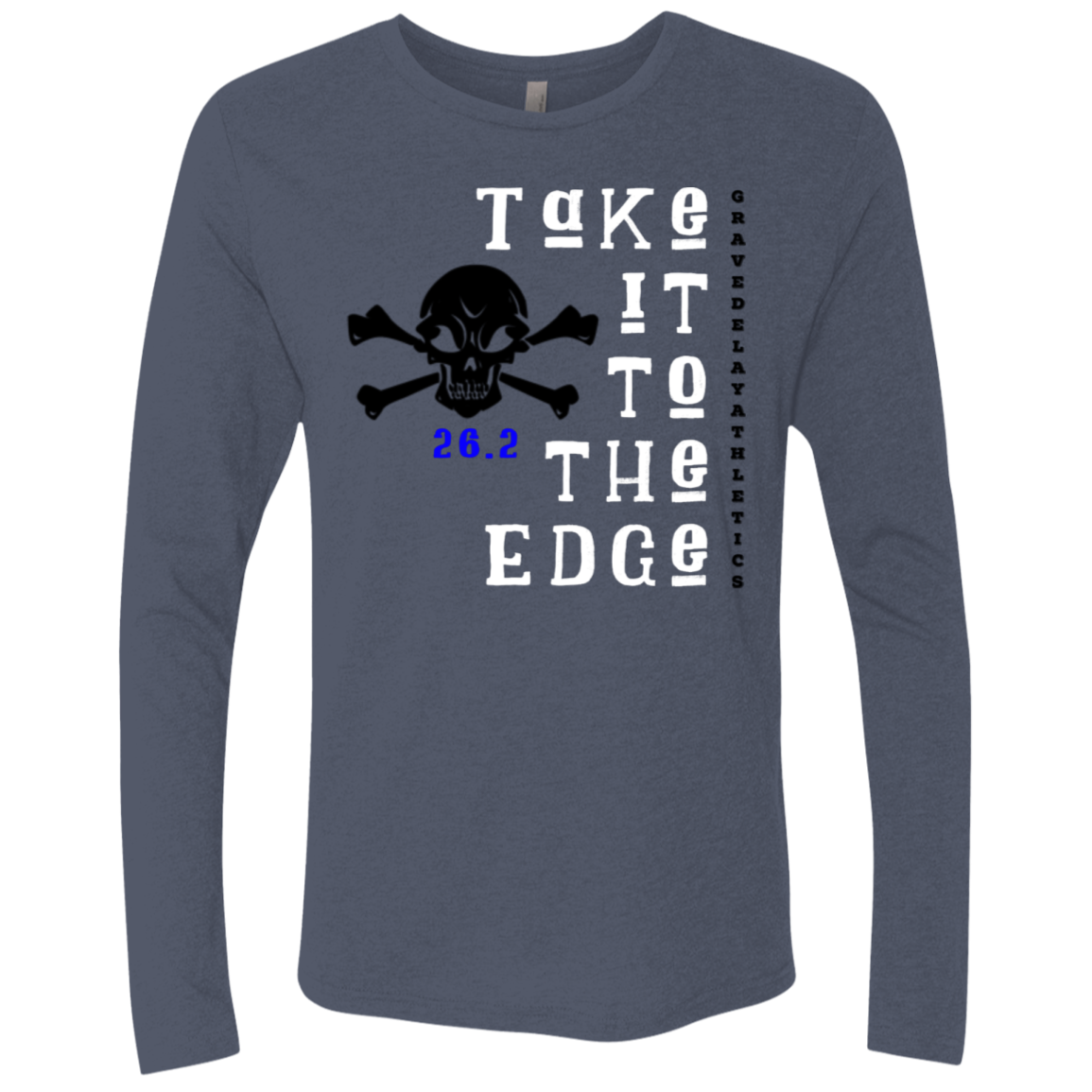 Take it to the Edge, 26.2 - Men's Triblend LS Crew