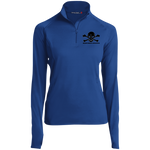 Skull and Crossbones - Embroidered Women's 1/2 Zip Performance Pullover