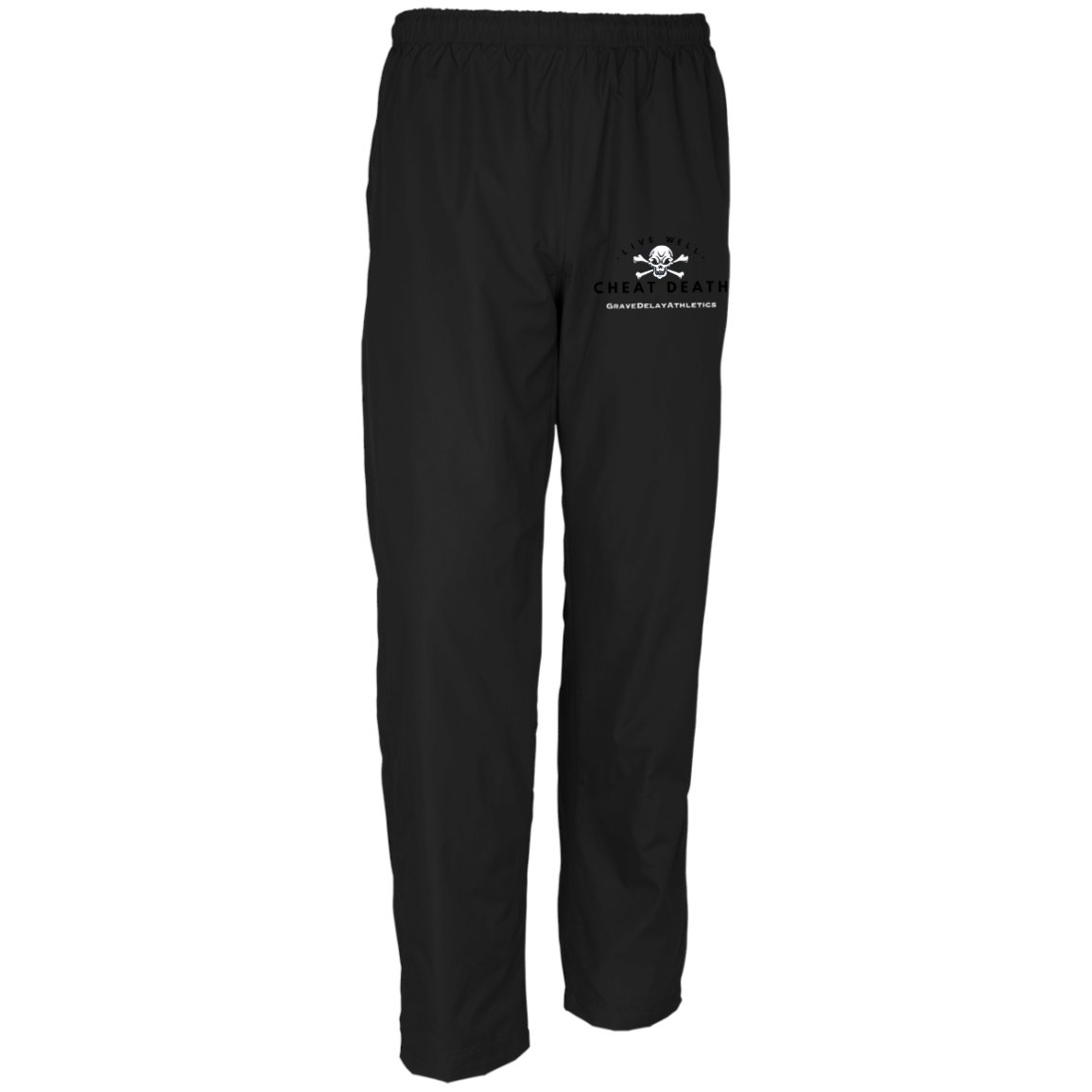 Live Well Cheat Death - Embroidered Men's Wind Pants