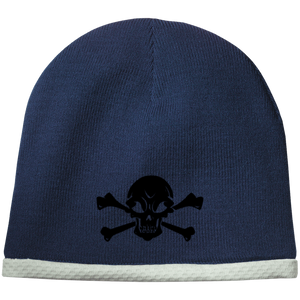 Skull & Crossbones - Embroidered - Sport-Tek Performance Knit Cap
