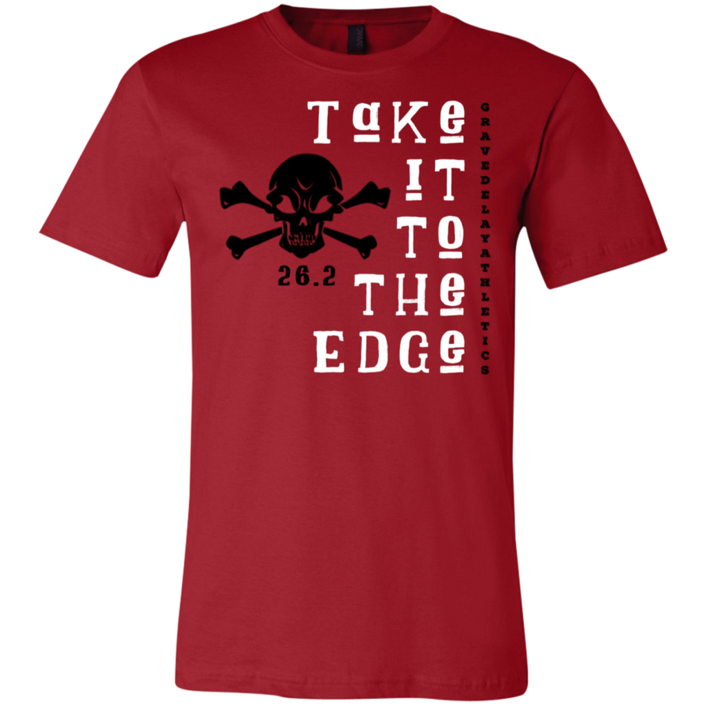 Take it to the Edge, 26.2 - Unisex Jersey Short-Sleeve T-Shirt