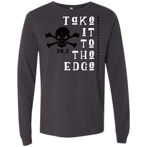 Take it to the Edge, 26.2 - Men's Jersey LS T-Shirt