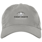 Live Well Cheat Death - Embroidered Brushed Twill Unstructured Dad Cap