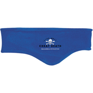 Live Well Cheat Death - Embroidered Fleece Headband