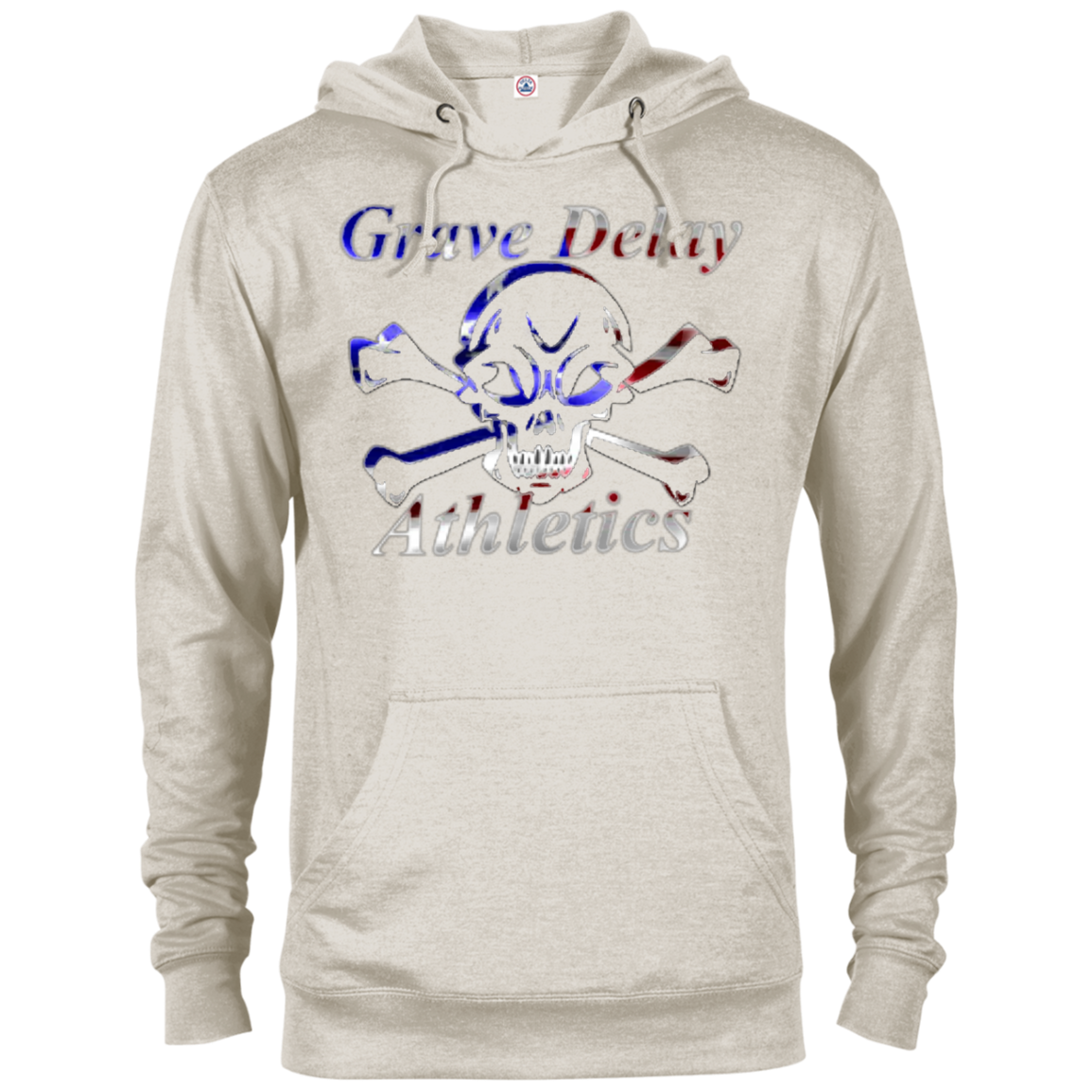 Patriotic Skull And Crossbones - Terry Hoodie