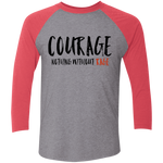 Courage - Tri-Blend 3/4 Sleeve Baseball Raglan T-Shirt