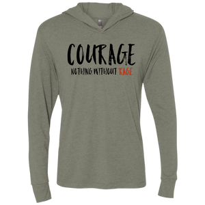 Courage - Unisex Triblend LS Hooded T-Shirt