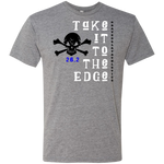 Take it to the Edge, 26.2 - Men's Triblend T-Shirt