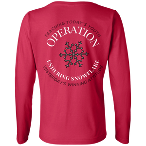 Operation Enduring Snowflake - Ladies' LS Cotton T-Shirt