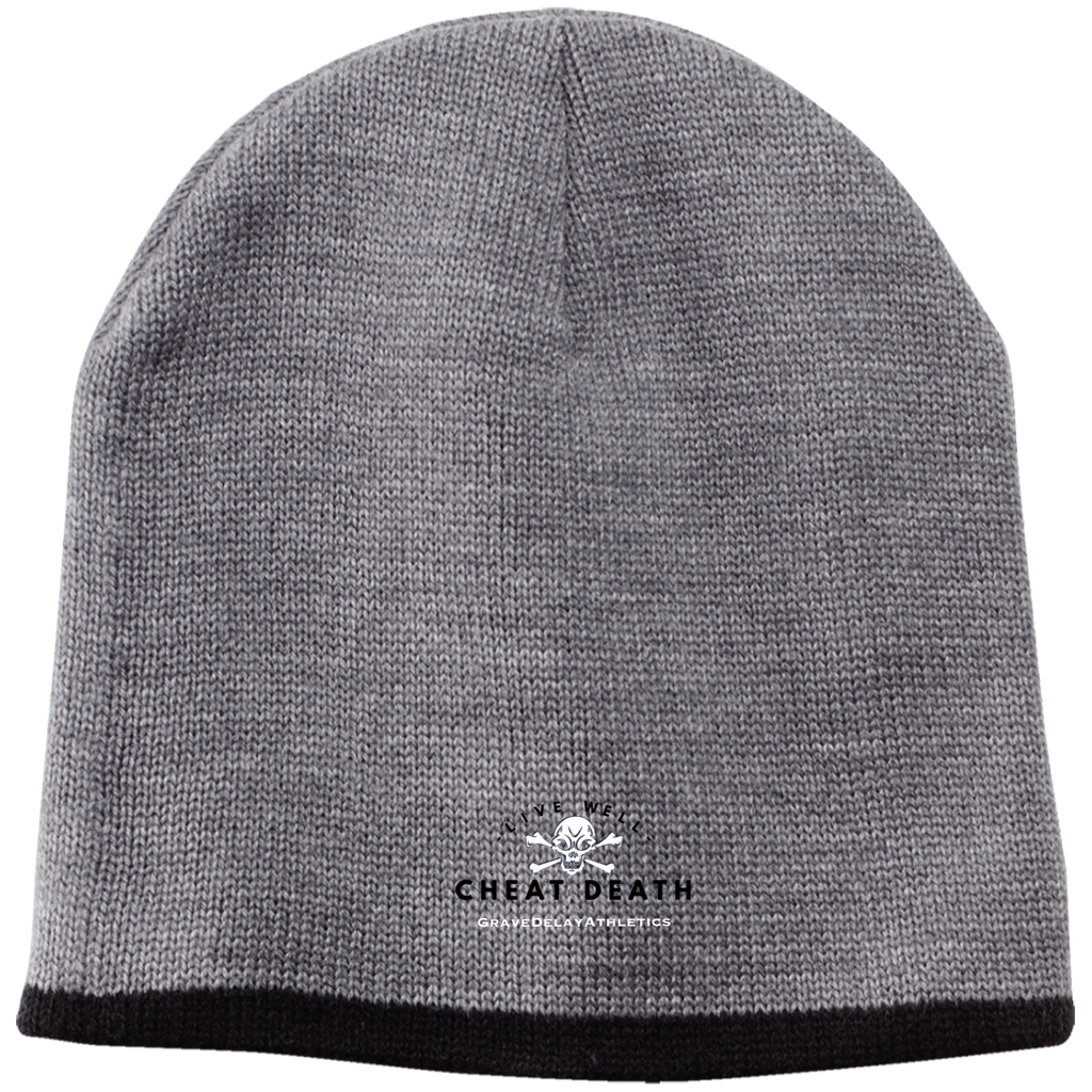Live Well Cheat Death - Embroidered 100% Acrylic Beanie
