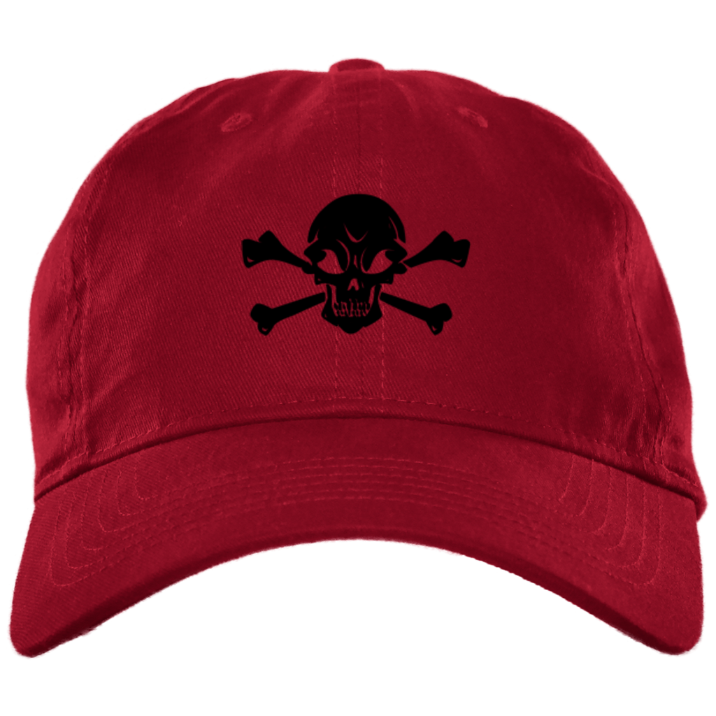 Skull and Crossbones Embroidered Unstructured Cap