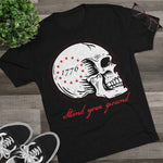 "Joe Local ""Stand Your Ground"" Skull Men's Tri-Blend Crew Tee"