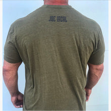 Load image into Gallery viewer, Joe Local Military Green with Blue Distressed Logo