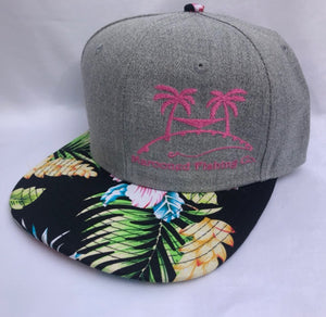 Tropical Print Hat - One Size Fits All, Unisex