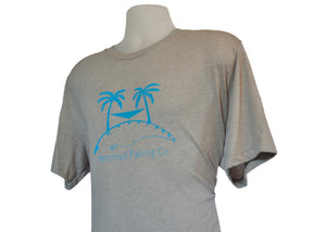 Marooned Fishing Palm Tree Logo
