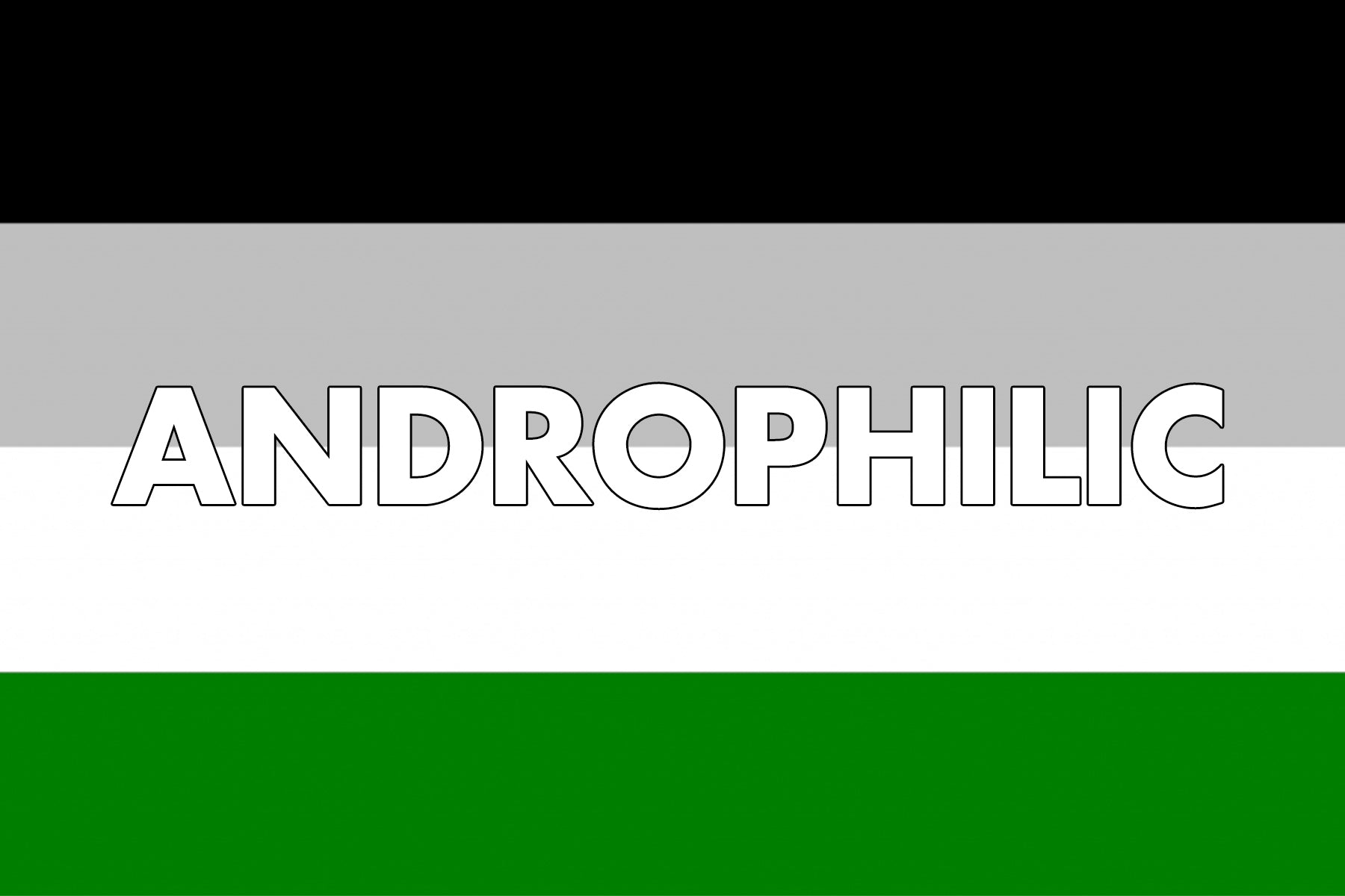 Androphilic Pride Flag | Rainbow & Co