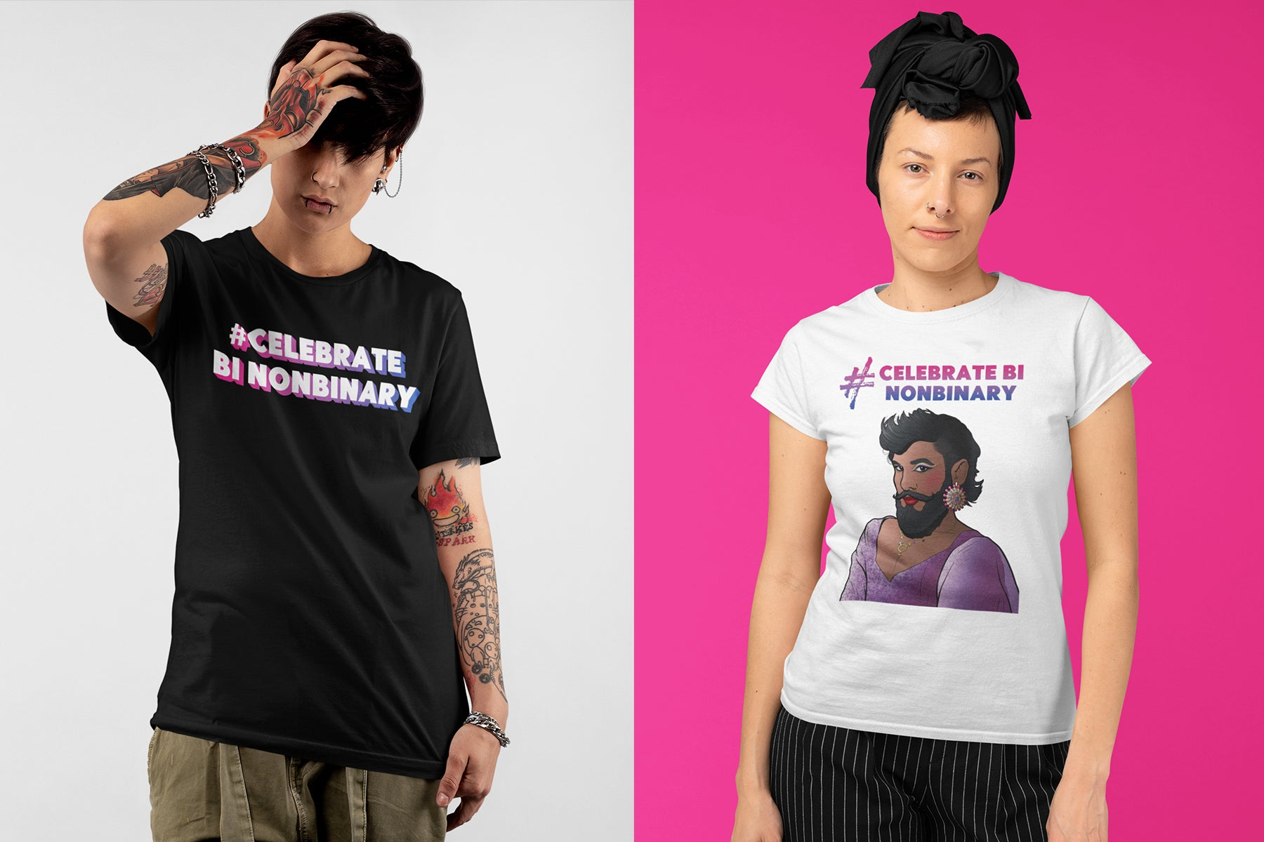 #CelebrateBiNonBinary Shirts
