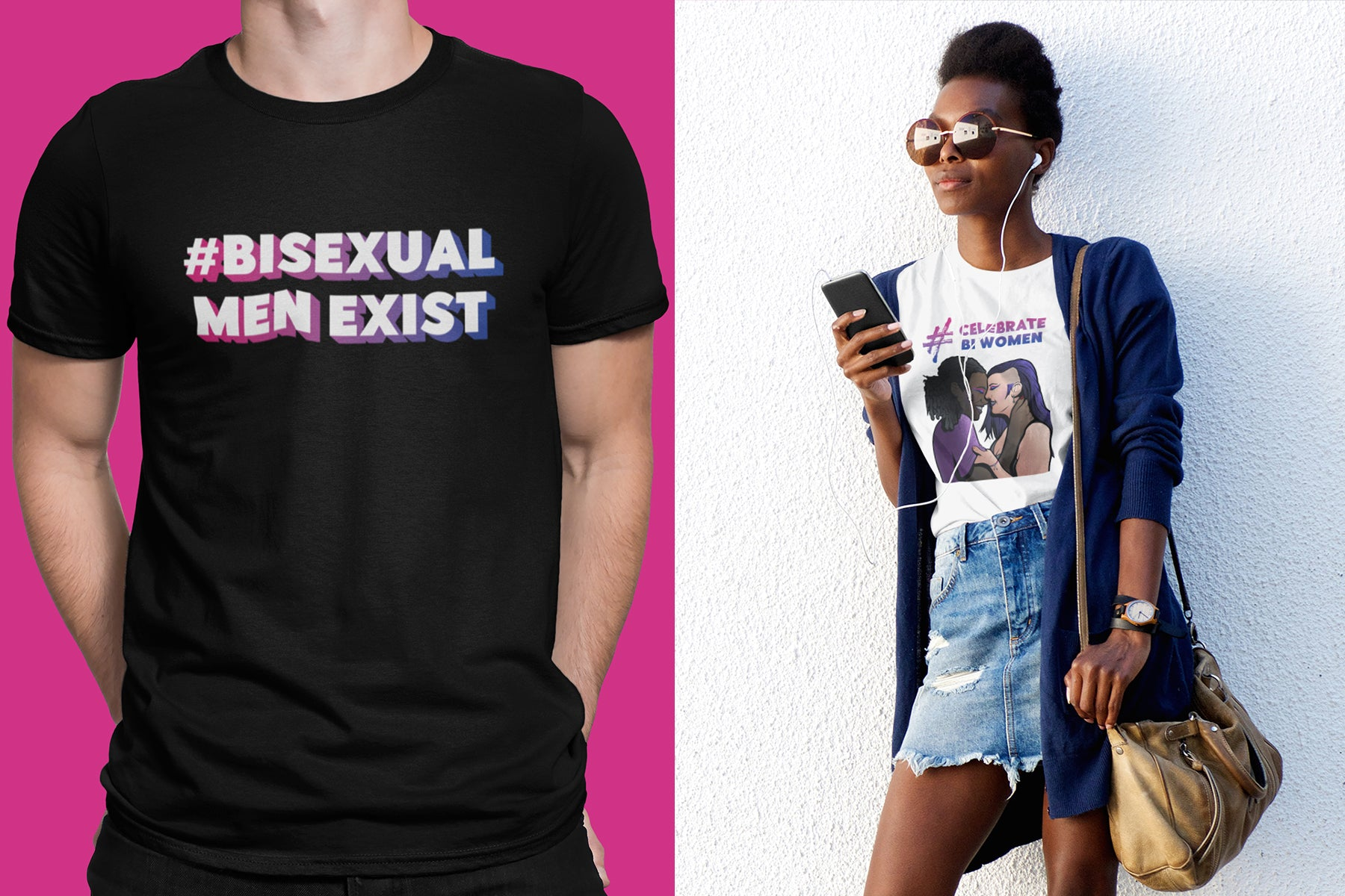 Celebrating Bisexual T Shirt | Rainbow & Co