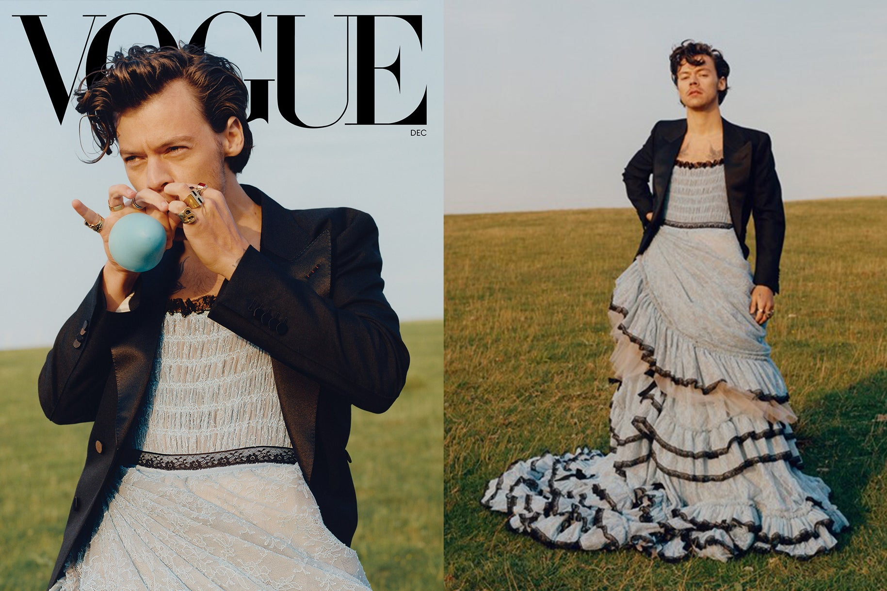 Harry Styles Vogue Cover December 2020 | Photography Tyler Mitchell