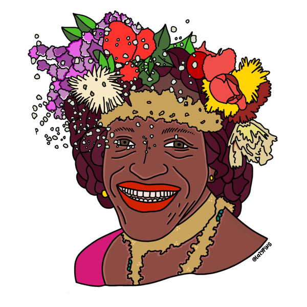 Marsha P Johnson | Illustration by LazyPins | Rainbow & Co