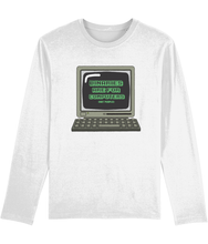 Load image into Gallery viewer, Binaries Are For Computers | Long Sleeve Non Binary Pride Shirt | Rainbow & Co