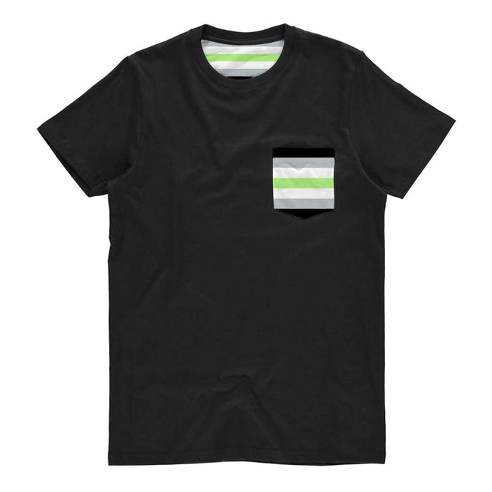 Agender Pride Flag Pocket T Shirt | Rainbow & Co