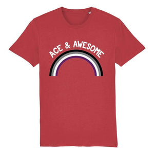 Asexual Pride Shirt | Ace & Awesome T Shirt | Rainbow & Co