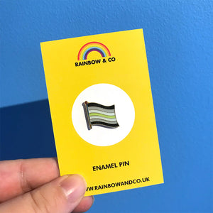 Agender Pride Pin | Rainbow & Co