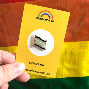 Agender Pride Flag Pin | Rainbow & Co