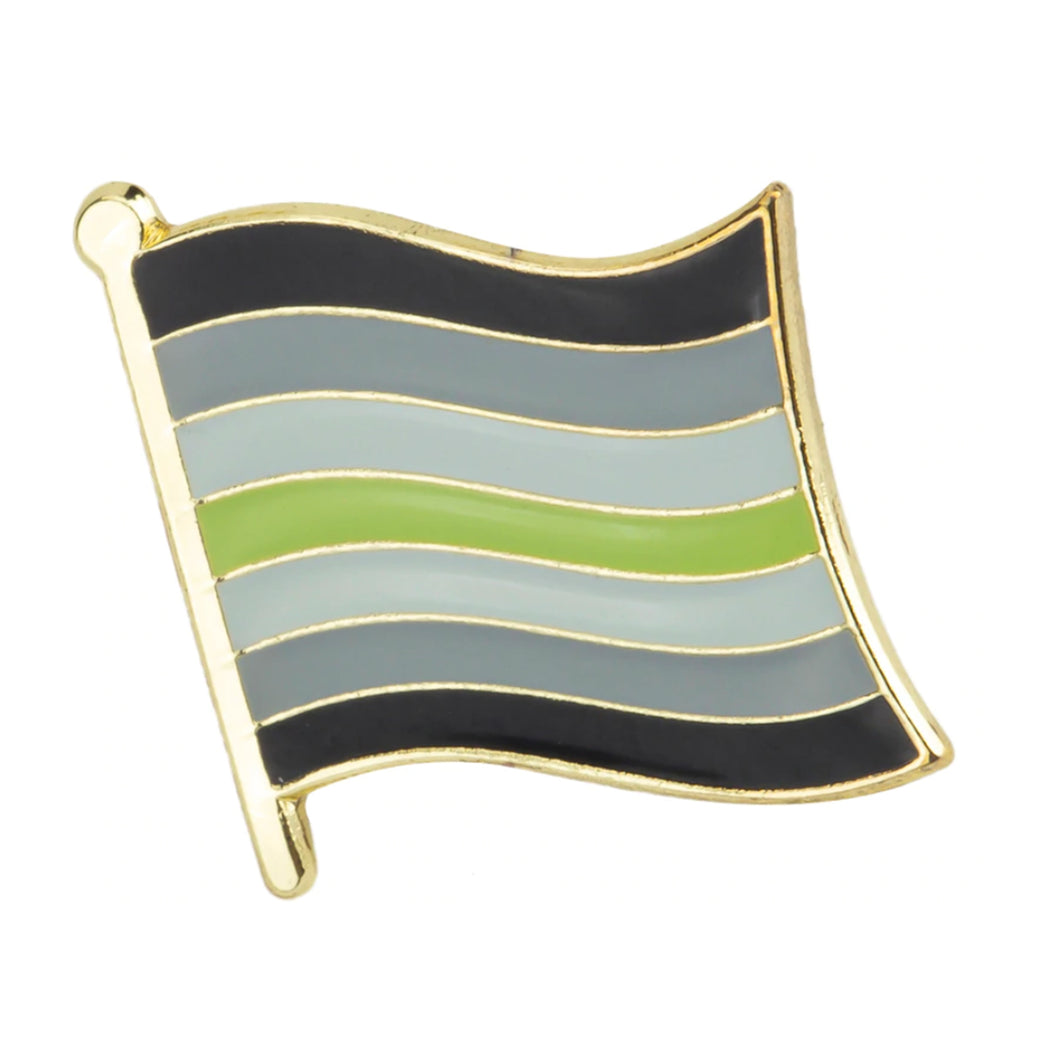 Agender Flag Pin | Rainbow & Co