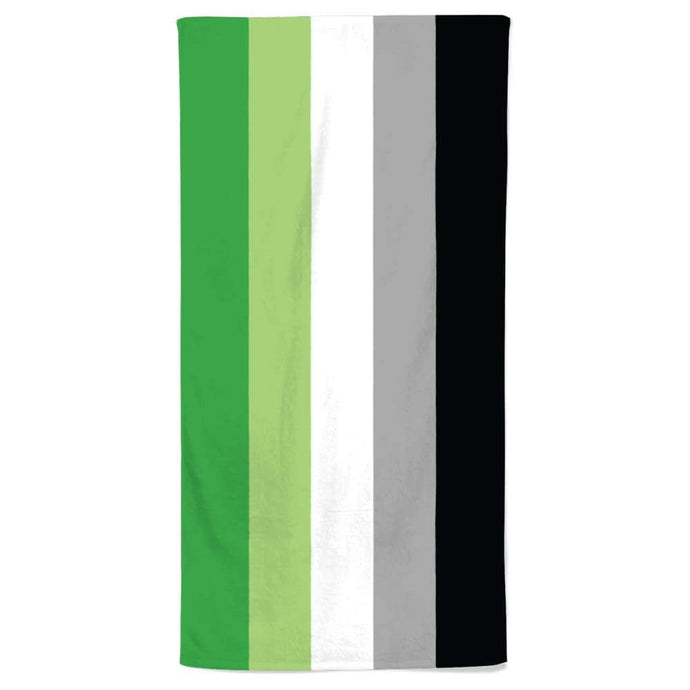 Aromantic Flag Beach Towel | Rainbow & Co