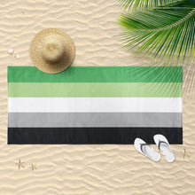 Load image into Gallery viewer, Aromantic Flag Beach Towel | Rainbow & Co