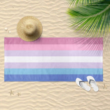 Load image into Gallery viewer, Bigender Flag Beach Towel | Rainbow & Co