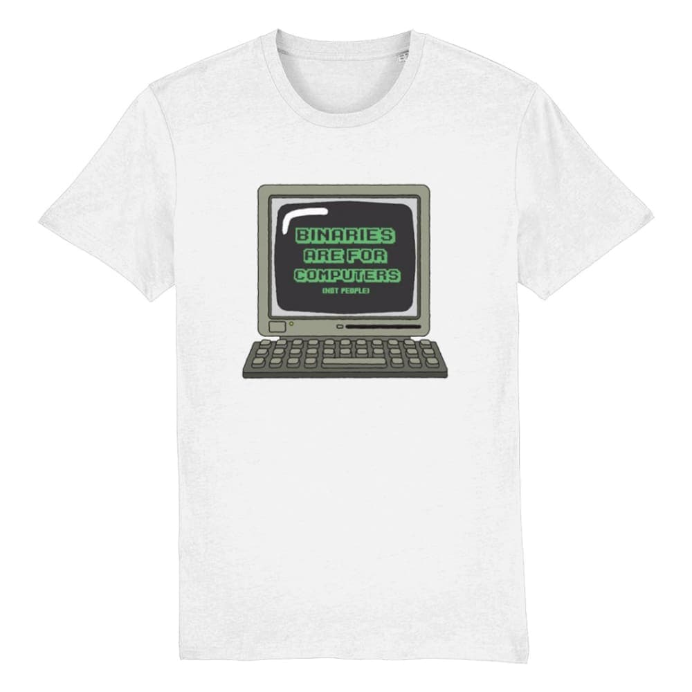 Binaries Are For Computers | Non Binary Pride Shirt | Rainbow & Co